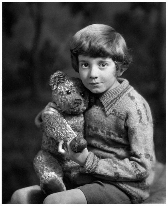 28. The real Winnie the Pooh and Christopher Robin in 1927