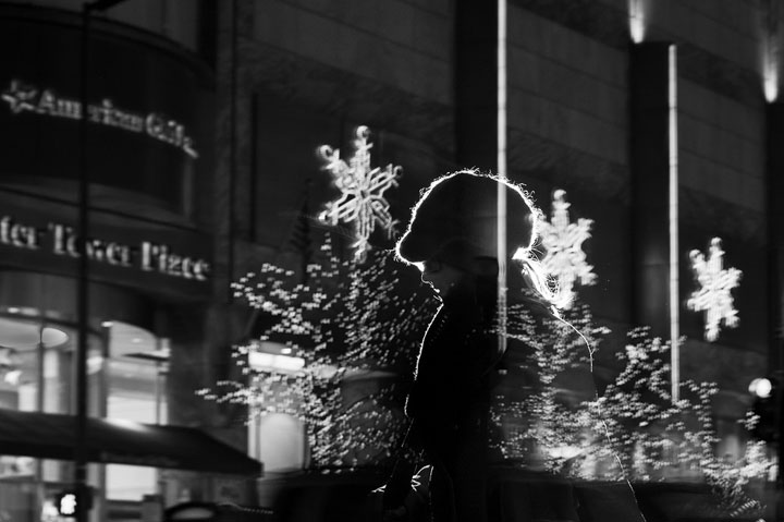 Photographer Immortalizes Shimmering Human Silhouettes In Night Lights-Satoki Nagata