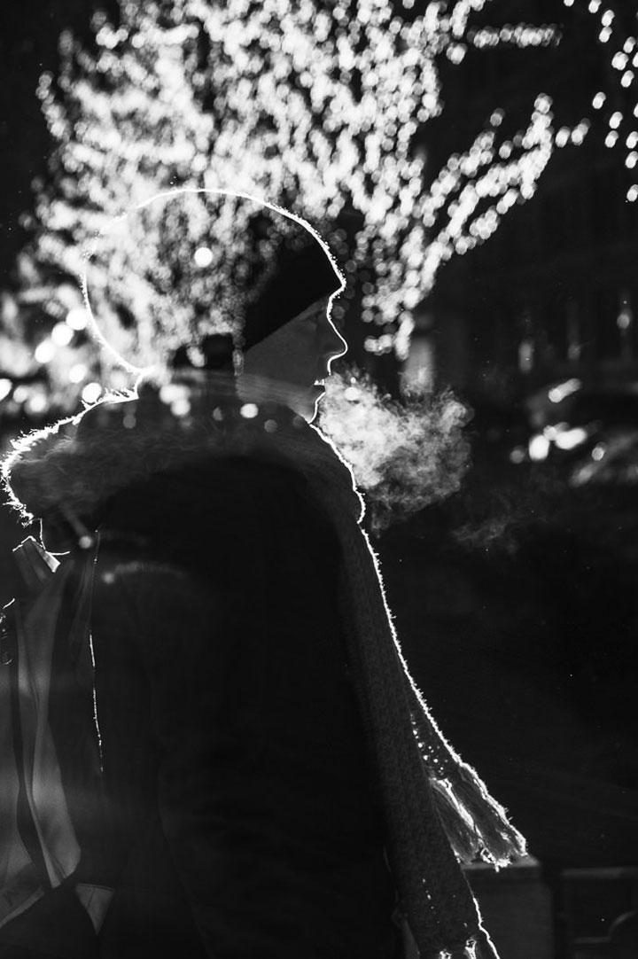 Photographer Immortalizes Shimmering Human Silhouettes In Night Lights-Satoki Nagata