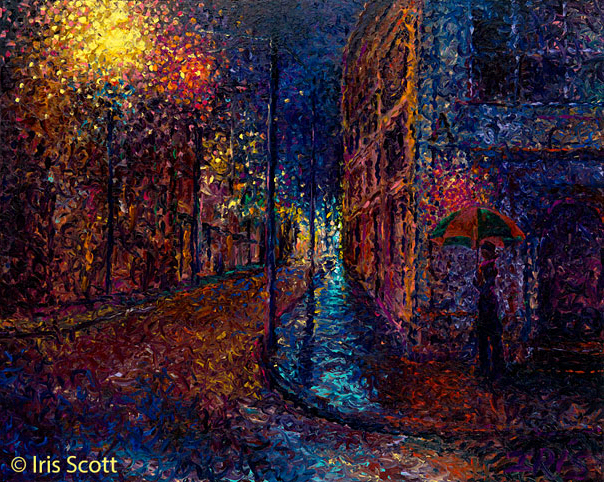 Iris Scott-Talented Artist Only Uses Her Fingers To Draw Magnificent Paintings