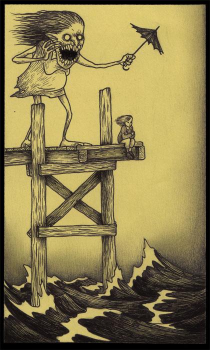 John Kenn Share His Strange Childhood Nightmares Using Drawings