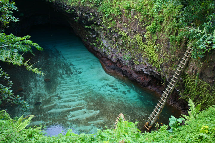 An Incredible Inground Natural Swimming Pool In The Middle Of Pacific