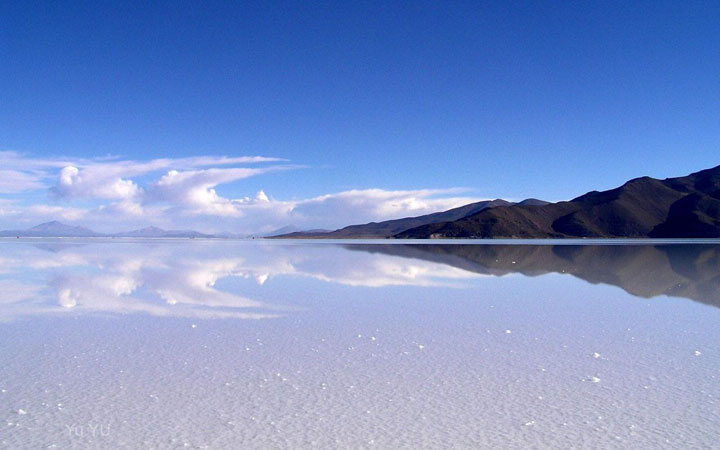 The Salar de Uyuni, Bolivia