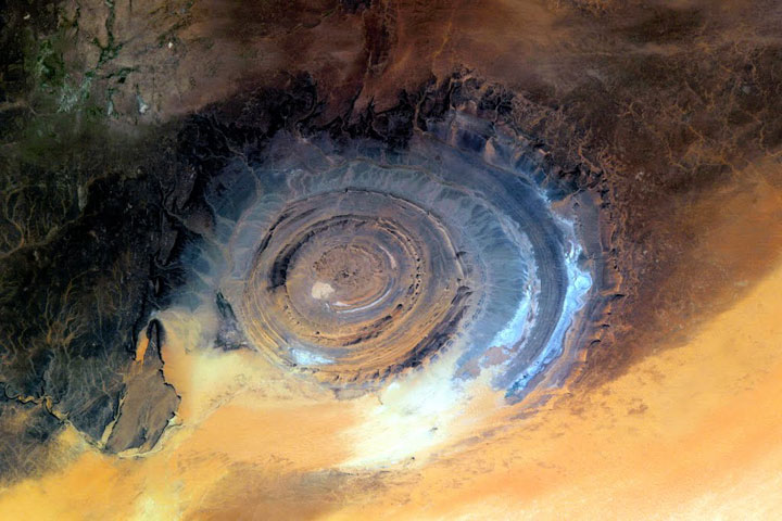 """""""Eye of Africa"""" located in the middle of the Sahara Desert in Mauritania"""
