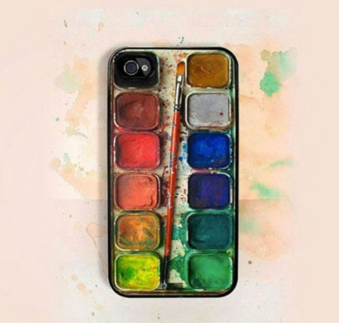 5. The painting palette cover for artists-Irrestible iPhone Cover Designs