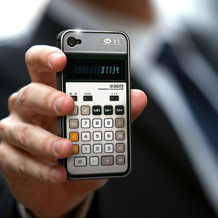 iPhone cover as a Calculator-Irrestible iPhone Cover Designs