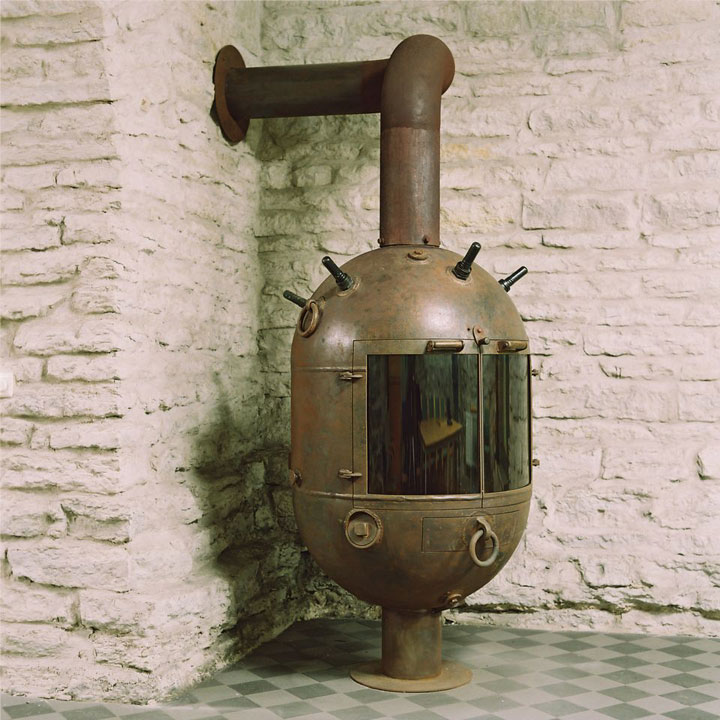 Underwater mines From WWII transformed into Useful objects