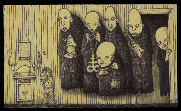 John Kenn Share His Strange Childhood Nightmares Using Drawings