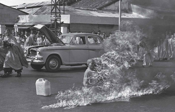 The self-immolation of Vietnamese monk Thich Quang Duc