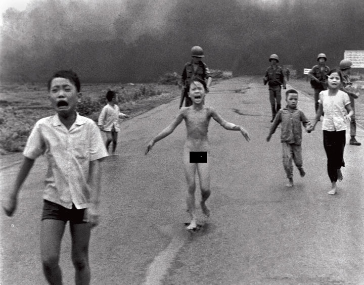 Kim, the Vietnamese girl fleeing the US military Napalm bombing