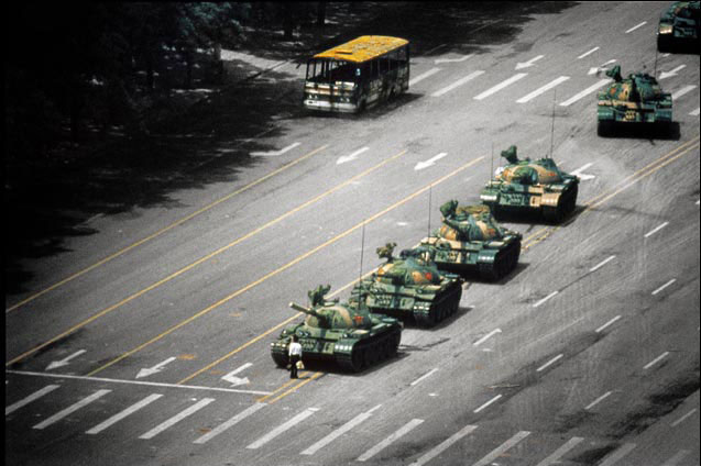 The unknown rebel in Tiananmen square