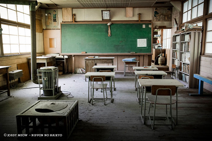 Namezawa Elementary School, in the Japanese Alps-Abandoned Places That Will Remind You Of Forgotten Japan-3