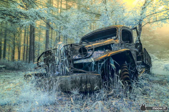 Dodge WC-14, a car wreck abandoned in the mountains Yamanashi -Abandoned Places That Will Remind You Of Forgotten Japan-8