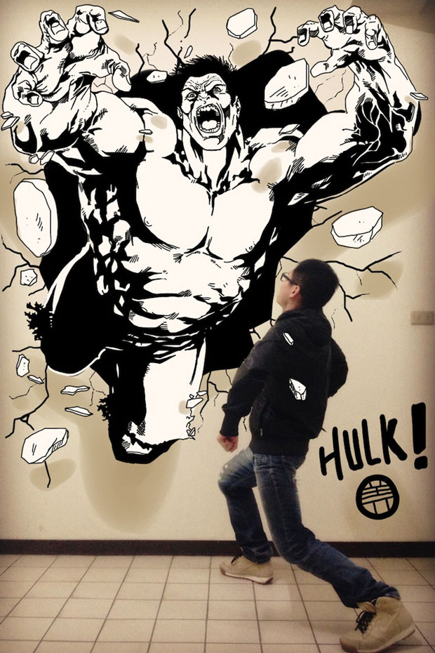 Hulk-Gaikuo-Captain-An Artist Gives Life To His Drawings In A Unique Way -8