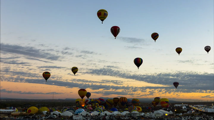 Balloon Festival of Albuquerqe Witness The Soaring Of Hundred Of Beautifu Balloons-