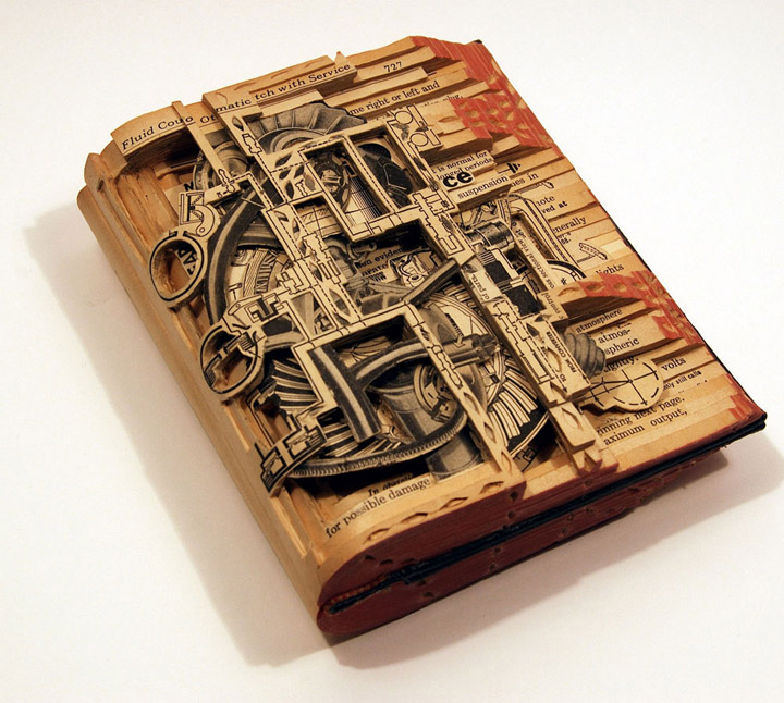 Brian Gives A New Life To Old Books By Carving Them Into Sculptures-1