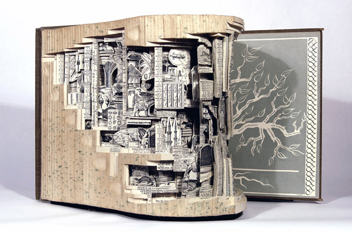 Brian Gives A New Life To Old Books By Carving Them Into Sculptures-11