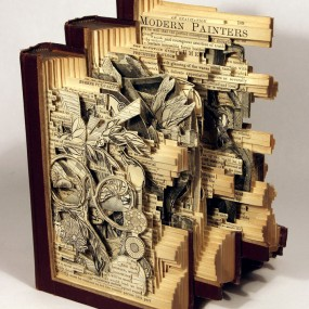 Brian Gives A New Life To Old Books By Carving Them Into Sculptures (Photo Gallery)