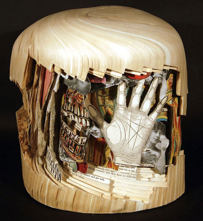 Brian Gives A New Life To Old Books By Carving Them Into Sculptures-19