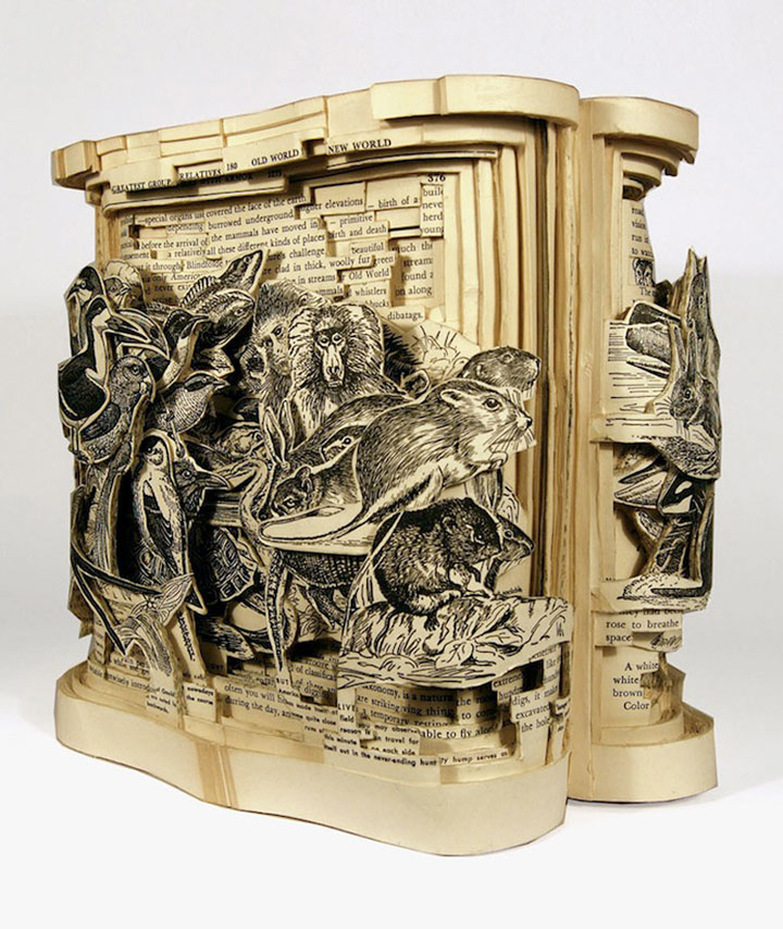 Brian Gives A New Life To Old Books By Carving Them Into Sculptures-2