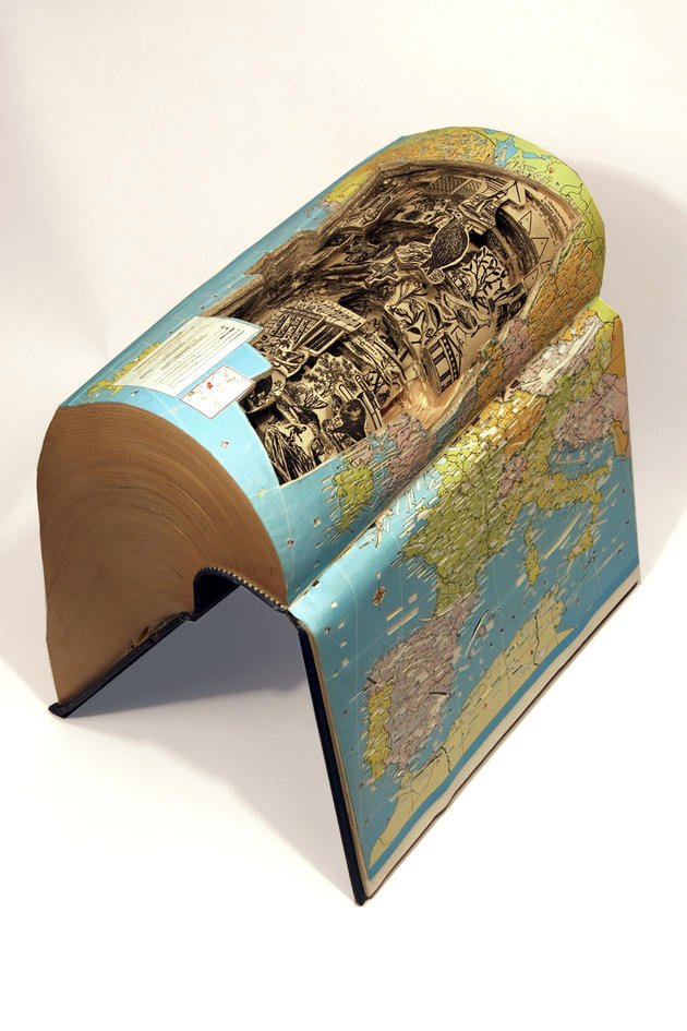 Brian Gives A New Life To Old Books By Carving Them Into Sculptures-20
