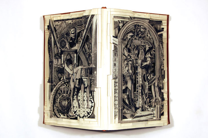 Brian Gives A New Life To Old Books By Carving Them Into Sculptures-22