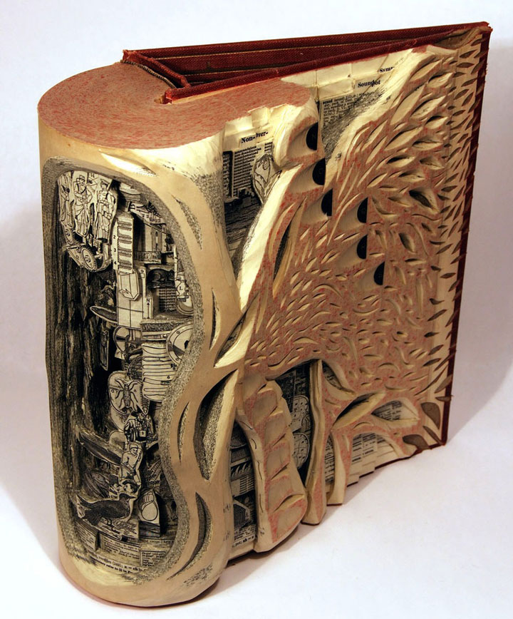 Brian Gives A New Life To Old Books By Carving Them Into Sculptures-6