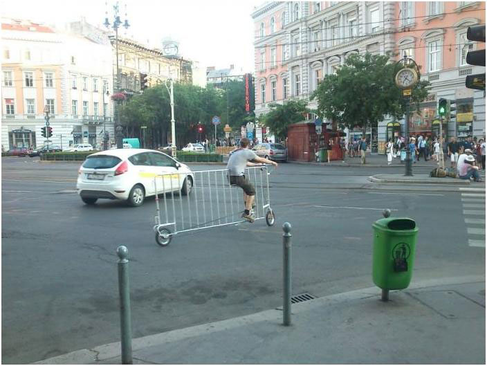 This man whose bicycle is shaped as a barrier-25 extreme Hipsters of modern times-3
