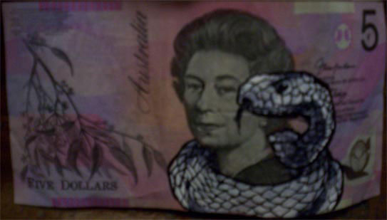 An Artist Makes Hilarious Caricatures Of Queen of England On Australian Dollar -