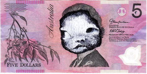 An Artist Makes Hilarious Caricatures Of Queen of England On Australian Dollar -1