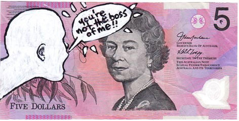 An Artist Makes Hilarious Caricatures Of Queen of England On Australian Dollar -10