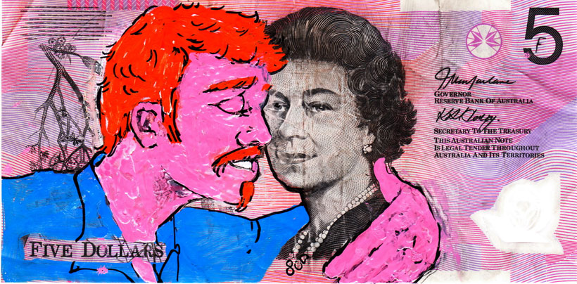 An Artist Makes Hilarious Caricatures Of Queen of England On Australian Dollar -14