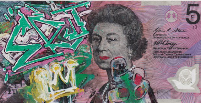 An Artist Makes Hilarious Caricatures Of Queen of England On Australian Dollar -16