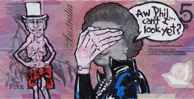 An Artist Makes Hilarious Caricatures Of Queen of England On Australian Dollar -18