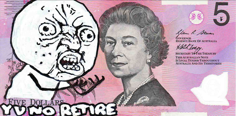 An Artist Makes Hilarious Caricatures Of Queen of England On Australian Dollar -3