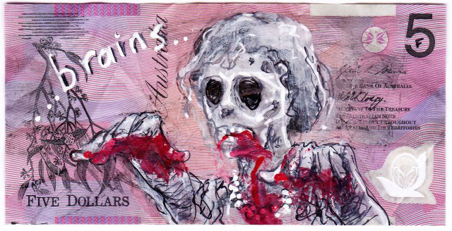 An Artist Makes Hilarious Caricatures Of Queen of England On Australian Dollar -30