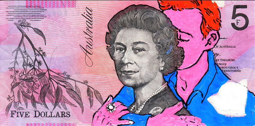 An Artist Makes Hilarious Caricatures Of Queen of England On Australian Dollar -6