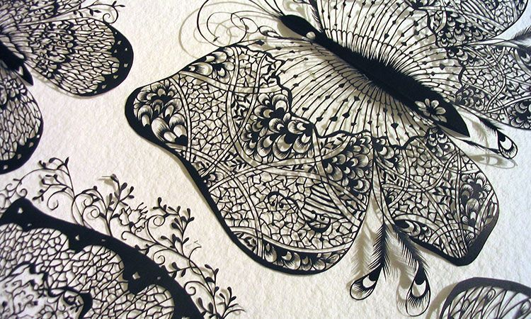 Hina Uses A Simple Pair Of Scissors To Cut Paper Into Amazing Sculptures