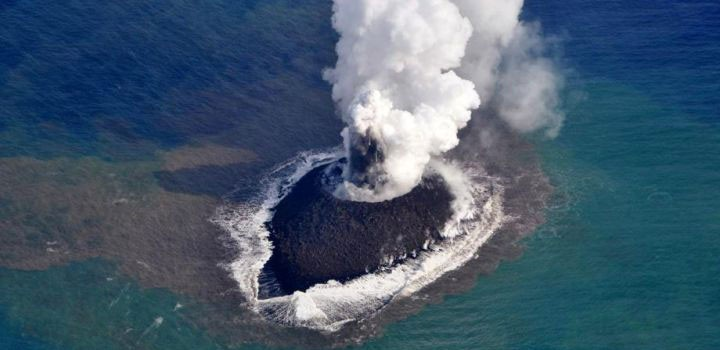 The Eruption Of An Underwater Volcano Gives Birth To An ...