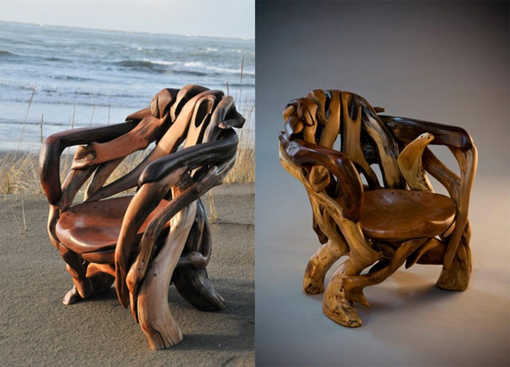 "Assortment of chairs and ""Thrones""-Jeffro makes impressive sculptures made only with wood-20"