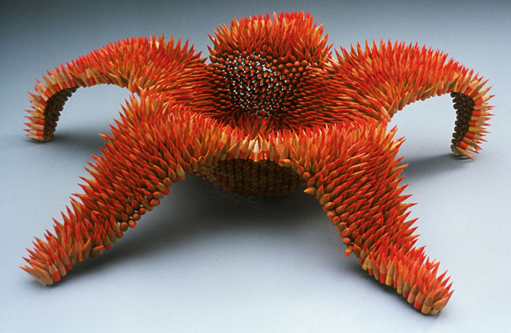 Stunning Nature Inspired Sculptures Made Only Using Pencils-1