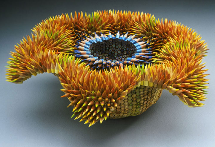 Stunning Nature Inspired Sculptures Made Only Using Pencils-13