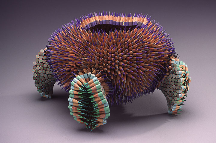 Stunning Nature Inspired Sculptures Made Only Using Pencils-2