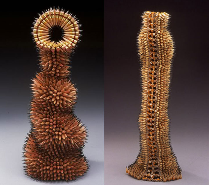 Stunning Nature Inspired Sculptures Made Only Using Pencils-7