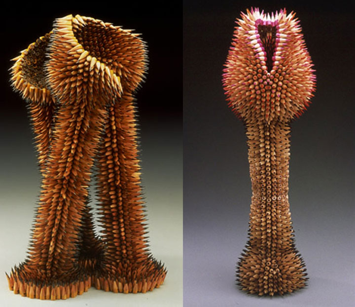 Stunning Nature Inspired Sculptures Made Only Using Pencils-8