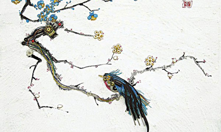 An Artist Blends Traditional Japanese Art With Electronic Circuits-10