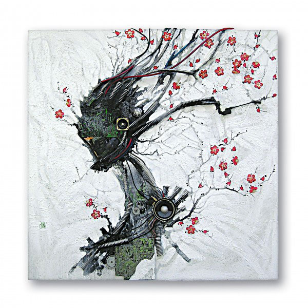 An Artist Blends Traditional Japanese Art With Electronic Circuits-4
