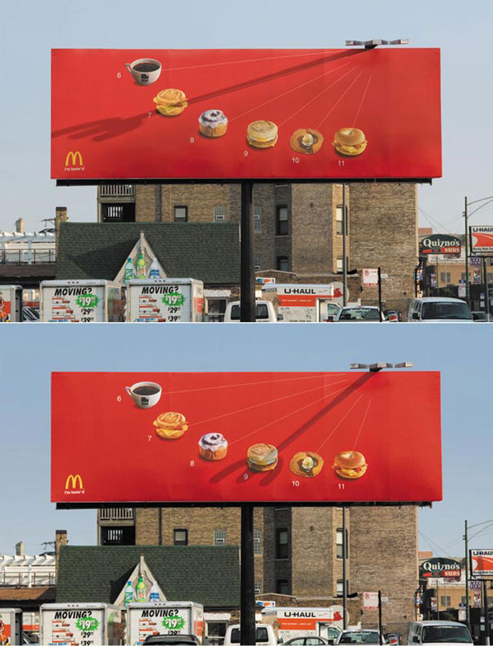 The sundial-most creative advertisements ever used by McDonald's in the world-14