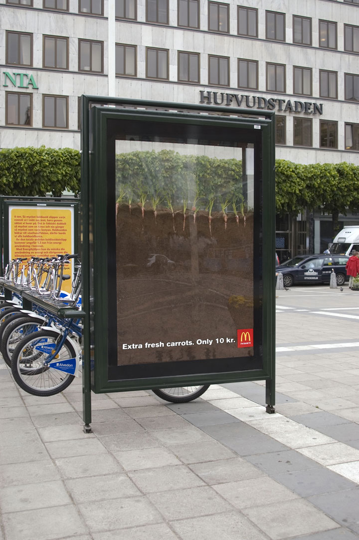 Extra Fresh Carrot-most creative advertisements ever used by McDonald's in the world-24
