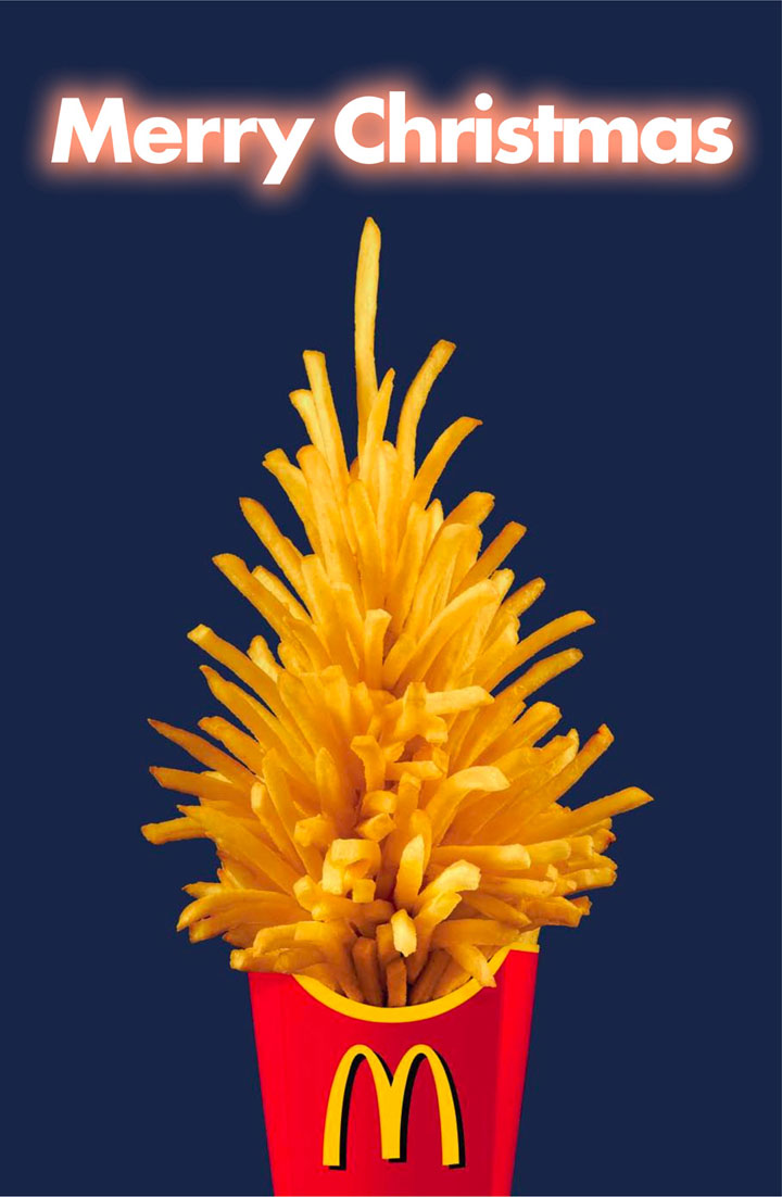 Merry Christmas tree-most creative advertisements ever used by McDonald's in the world-26